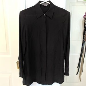 Vince Silk Dress Shirt